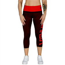 Venum Damen Leggings Crops Power Black/Red,Leggings Fitness Sport Freizeit Damen