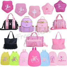 Lovely Girls Kids Cute BALLET Bag Dance Backpack Flower Star Pink Shoulder Bag