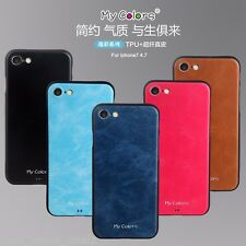 MyColors Pu Leather Luxury back case Cover For apple iphone 8