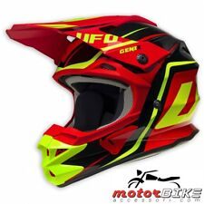 UFO CASCO HELMET CROSS GENIX INTERCEPROT 2 BLACK/RED/YELLOW FLUO