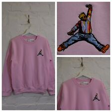 Actual Fact Biggie x Jordan hip hop rosa Felpa a girocollo maglia