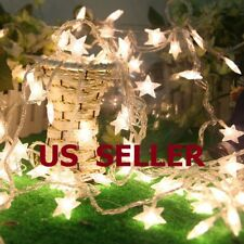 Warm White 10/20/30/40LED Indoor Christmas Party Decor String Star Fairy Lights