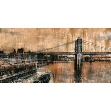 Quadro Brooklyn Bridge 1 New York Stampa su Mdf o Tela Swarovski Pannello