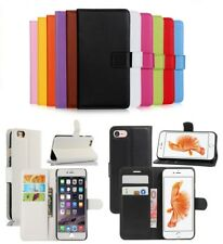 For Apple iPhone 5s SE 6s 7 8 Plus Leather Flip Wallet Magnetic Case Cover
