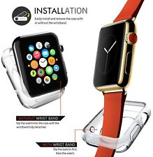 Apple iWatch Clear Tempered Glass Screen Protector + Soft Case 38MM Series 3 / 2