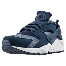 Mens Nike Air Huarache Thunder Blue Mesh & Synthetic Blue Shoes Trainers Casual