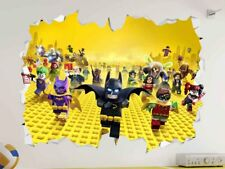 Lego Movie Group Wall Vinyl Sticker Poster - Game Room Bedroom Man Cave Mural