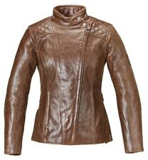 MLLS17106 TRIUMPH LADIES LEATHER BARBOUR MOTORCYCLE JACKET