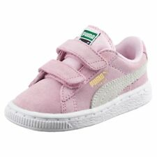 Puma Suede 2 Straps Inf Sneaker Bambino 356274 23 Pink Lady-Team Gold