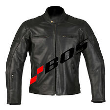 Giacca Motociclista Giacca Uomo Moto Giacca in pelle PELLE NERA M