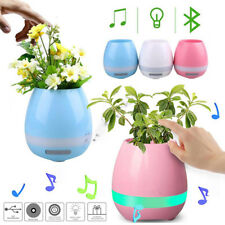 Smart Touch Flower LED Light Plant USB Stereo Bluetooth Speaker - Love Gift