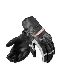 REV´IT! - Guantes de piel Chevron 2 negro, blanco