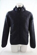 Superdry Vintage Fuji Quilted Hooded Jacket Navy Blue Size Large