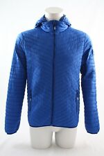 Superdry Vintage Fuji Quilted Hooded Jacket Cobalt Blue Size XL