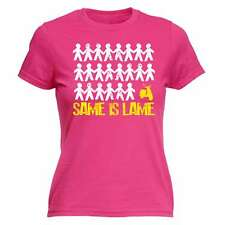 Womens Same Is Lame Scooter Funny Joke Moped Motorbike Electric FITTED T-SHIRT
