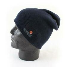 Superdry Windhiker Embroidery Beanie Hat Eclipse Navy Black One Size