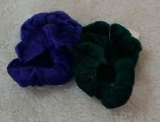 2 Small Velvet Fabric Scrunchies - Choice of 7 Colours