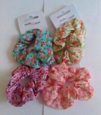 Large Floral Rose Printed Fabric Scrunchie - Choice of 4 Colours