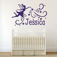Personalised Fairy Vinyl Wall Art Sticker, Mural, Decal - Any Name