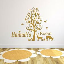 Personalised Forest Animals Vinyl Wall Art Sticker, Mural, Decal - Any Name