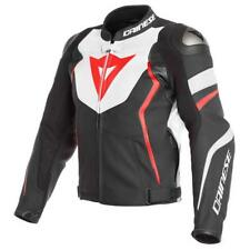 GIACCA PELLE AVRO D1 BIANCO-NERO-ROSSO FLUO DAINESE