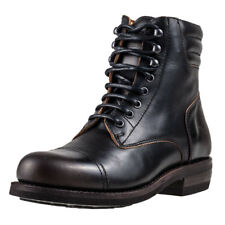 Rokker Urban Racer Mens Black Leather Casual Boots Lace-up Genuine Shoes