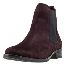 Caprice Dark Bordeaux Ankle Boot Mujeres Botas Chlesea Burgundy nuevo Zapatos