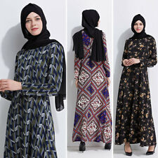 Caftan Abaya Islamique Musulman COCKTAIL MANCHES LONGUES FEMME VINTAGE ROBE MAXI