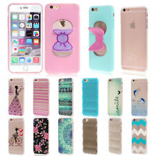 Colorido 3D/Transparente TPU Silicona Protectora Funda para iPhone 6 6S/6S Plus