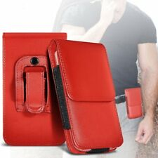 Phone Case Cover Pouch Holster w/Belt Clip✔Excellent Protection✔Vertical✔Red