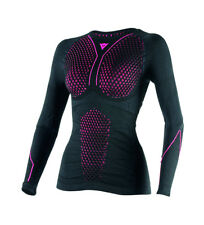 Dainese - Camiseta técnica D-Core Thermo Tee LS Lady negro, fucsia