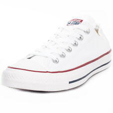 Converse Chuck Taylor Allstar Ox Mens White Canvas Casual Trainers Lace-up