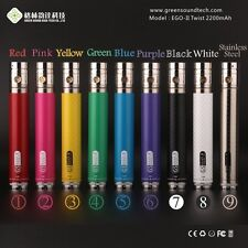 NEW GENUINE GS 2200mAh EDITION VARIABLE VOLTAGE RECHARGE HOOKAH SHISHA PIPE