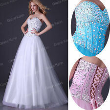 Long Corset mariage habillé robe robe cocktail taille 6-20