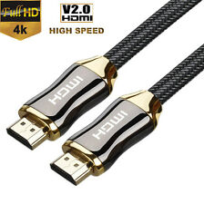 Braided Ultra HD HDMI Cable v2.0 High Speed + Ethernet HDTV 2160p 4K 3D HDR PS4