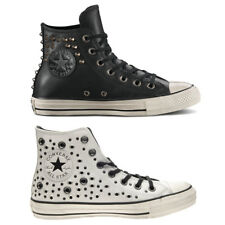 "CONVERSE Scarpe DONNA Shoes ""All Star Hi"" BORCHIE Pelle SNEAKERS Originali NUOVE"