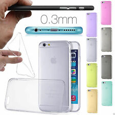 FUNDA COLOR CARCASA TRANSPARENTE ULTRAFINA TPU GEL SILICONA XA iPHONE 6 6S 4,7""