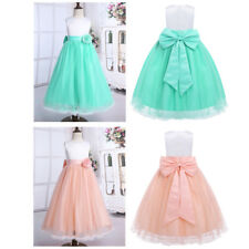Flower Girl Dress Princess Bridesmaid Wedding Dress Party Prom Gown Long Dresses