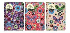 2018 Pocket Slim Week to View Diary Bright Flowers and Butterfly Design Hardback