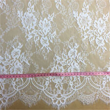 "59"" Bridal Lace Fabric Chantilly Eyelash Lace Fabric Floral Lace Fabric 3m/piece"