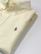 Ralph Lauren Ladies Yellow And White Stripe Oxford Shirt