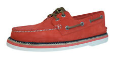 Sperry Top Sider A/O DBL Sole hombres Gamuza Barco / Deck Zapatos - Rojo - 3072