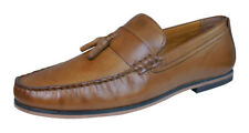 Rojo Tape Woodcroft hombres Cuero Slip On Loafers / Zapatos - Tan