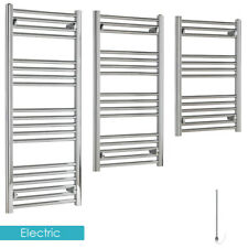 BUDGET Straight Chrome ELECTRIC Heated Towel Rail Warmer ALL SIZES 100W-300W