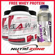 Trec Nutrition S.A.W Pre Workout Alanine AAKG Nitic Oxide SAW 400g+ WHEY PROTEIN