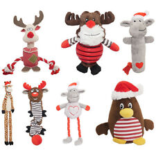 Rubber Twisty Belly Rudolph Reindeer Giraffe Sheep Lamb Monkey Plush Dog Toy