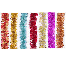 6 × 2m Tinsel Chunky Christmas Tree Decoration Garland - Assorted 9 Colours