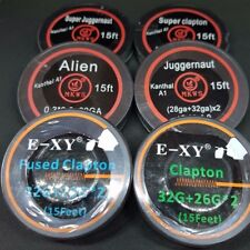 Clapton, Fused Clapton, Alien, Juggernaut + more Coil Wire, 5m (15ft) Spools