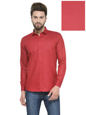 Being Fab Men's Cotton Vicose Blend Printed Red Casual Shirt (BFSHTPRT123RED)