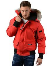 Canada Goose Jacket - Mens Chilliwack Bomber Jacket in Red